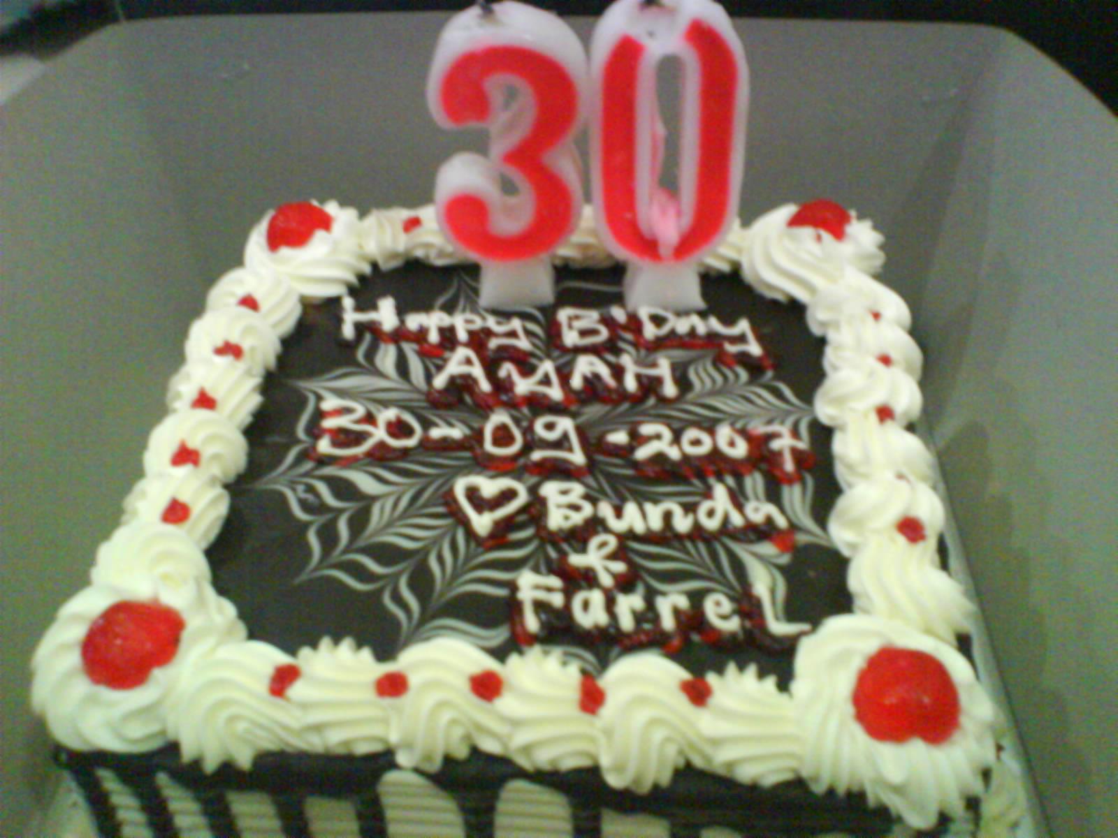 Kue Ulang Tahun 30 thn Ayah